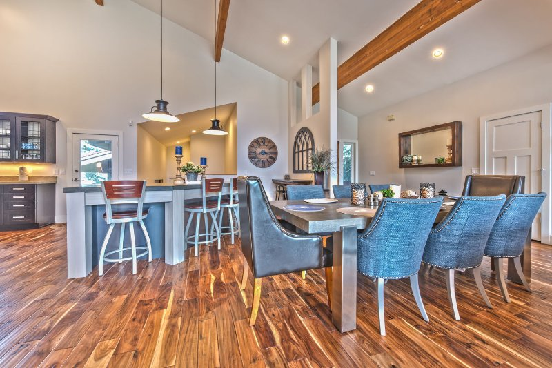Plenty of Seating with the Island, Bar and Dining Table!