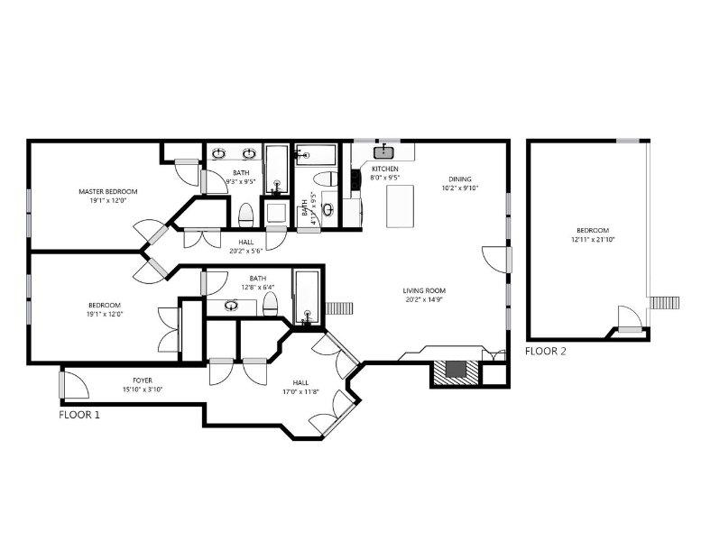 Black Bear Penthouse B Floor Plan