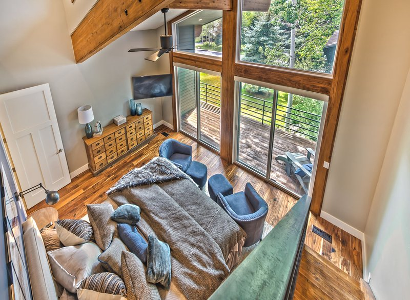 View of Master Bedroom from Loft