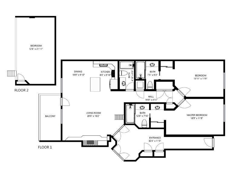 Black Bear Penthouse A Floor Plan