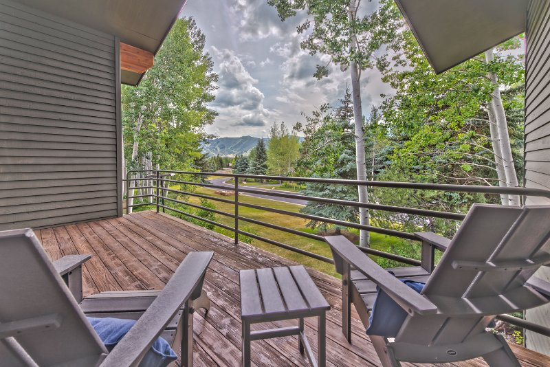 Master Bedroom Private Deck with Beautiful Views of Park City Resort
