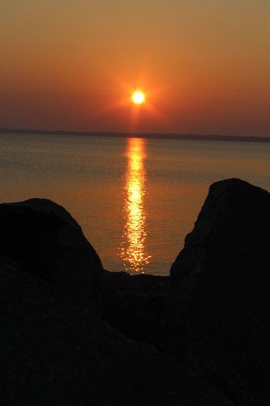Impresionante lago Erie amaneceres y puestas de sol.