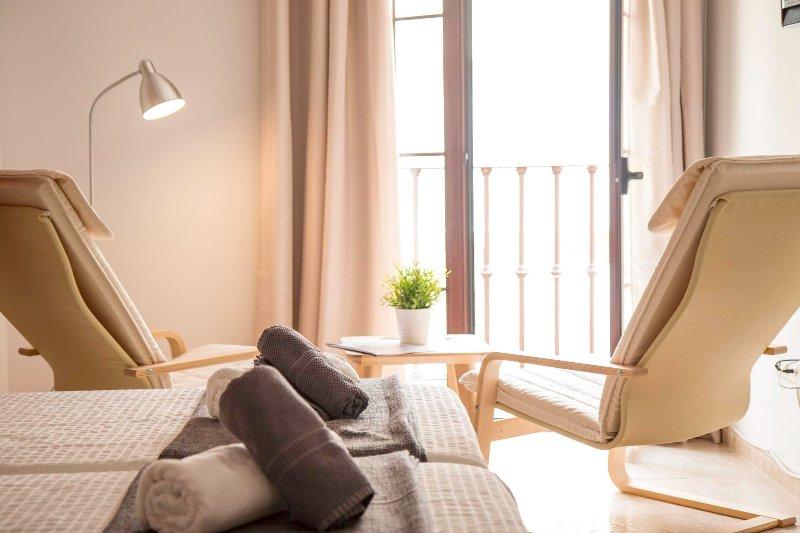 Betten und Sitz