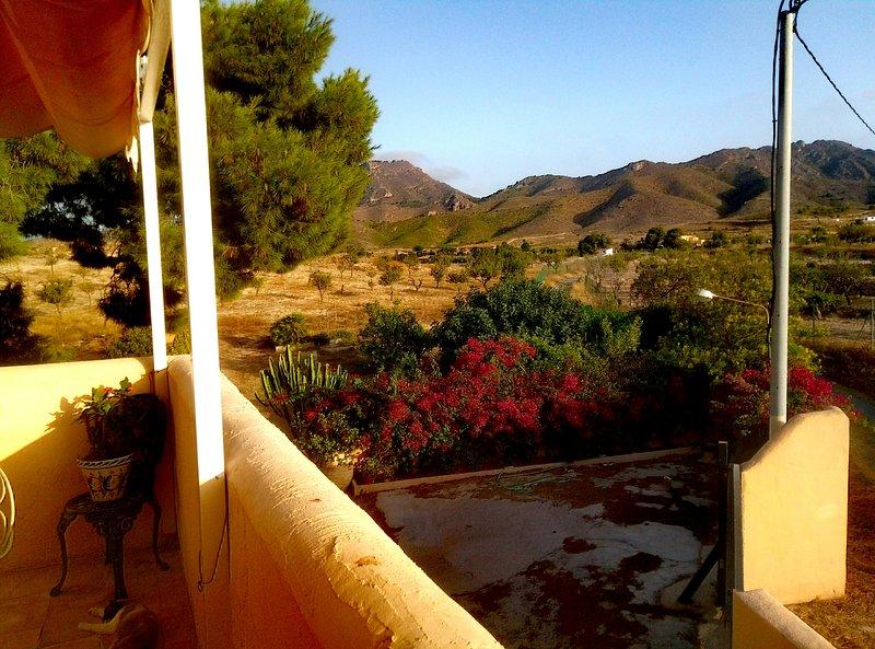 Vistas de la finca y monte desde la terraza