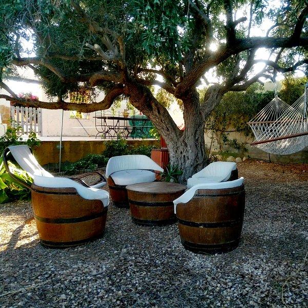 Área de descanso del olivo