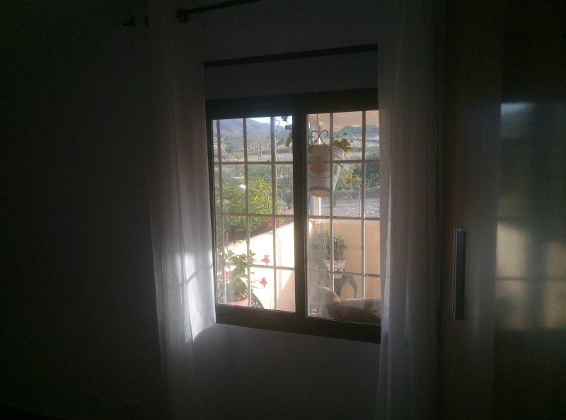 Vista desde la ventana del dormitorio principal