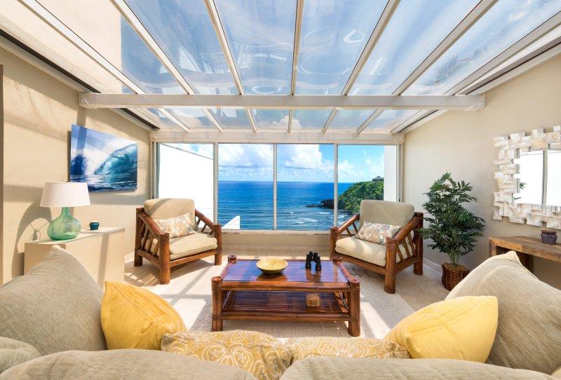 Stunning Ocean Views and Beach Access in Highly Sought After Pu'u Po'a Condo, alquiler vacacional en Haena