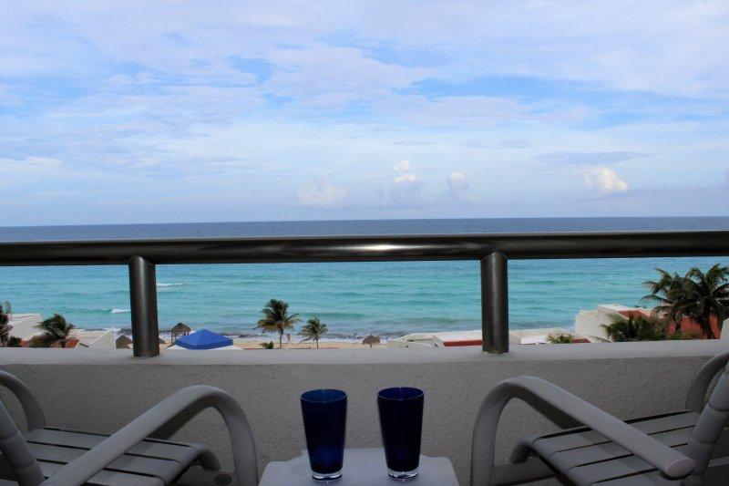 Mer des Caraïbes depuis notre balcon