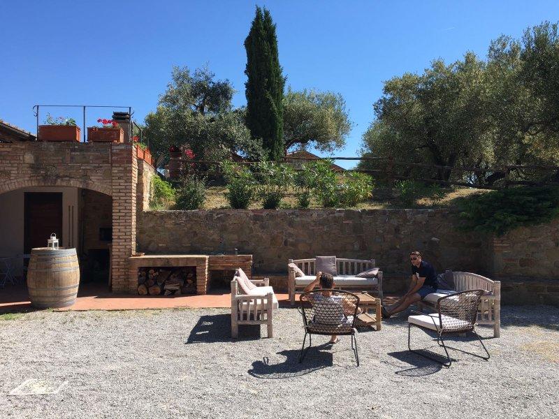 Podere Schioppello near Lago Trasimeno verde Umbria vista panoramica, location de vacances à Mercatello