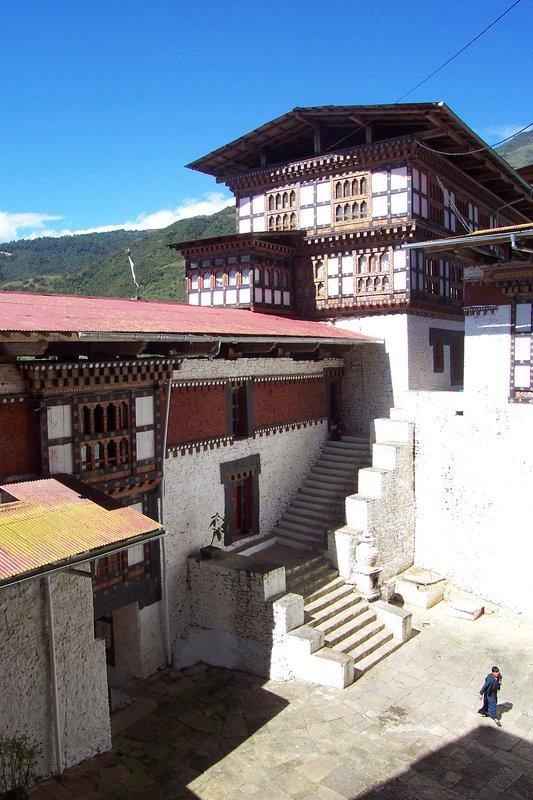 Cottage bhoutanais typique