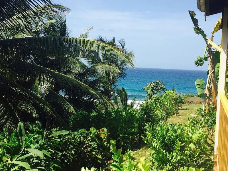 Bungalow de charme intimiste proche Mer, location de vacances à Le Moule