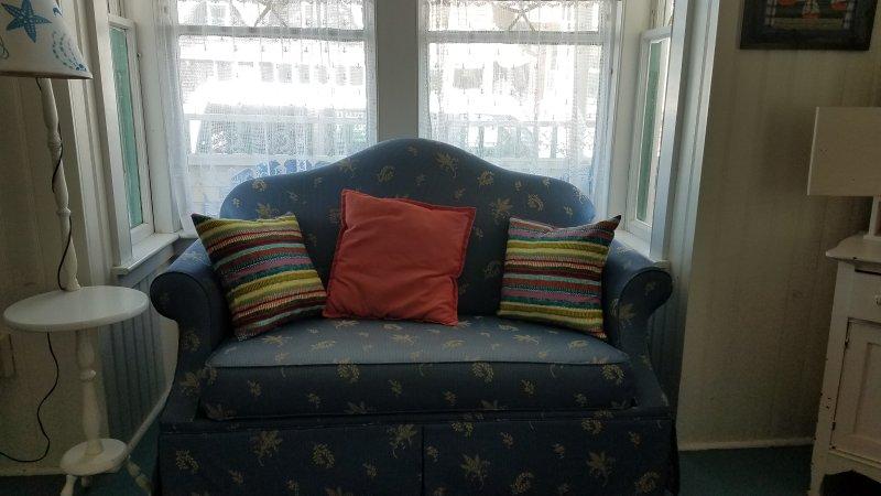 Ventana frontal de la sala de estar
