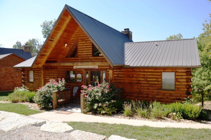Premium toda a cabana de madeira