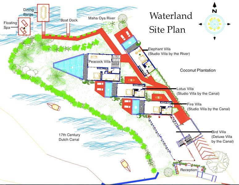 Site plan of Waterland