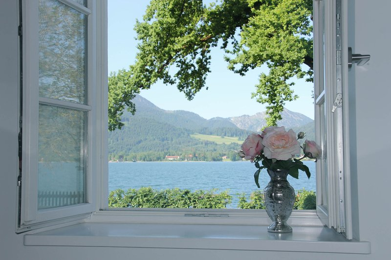 Magnificent lake view from the dining table