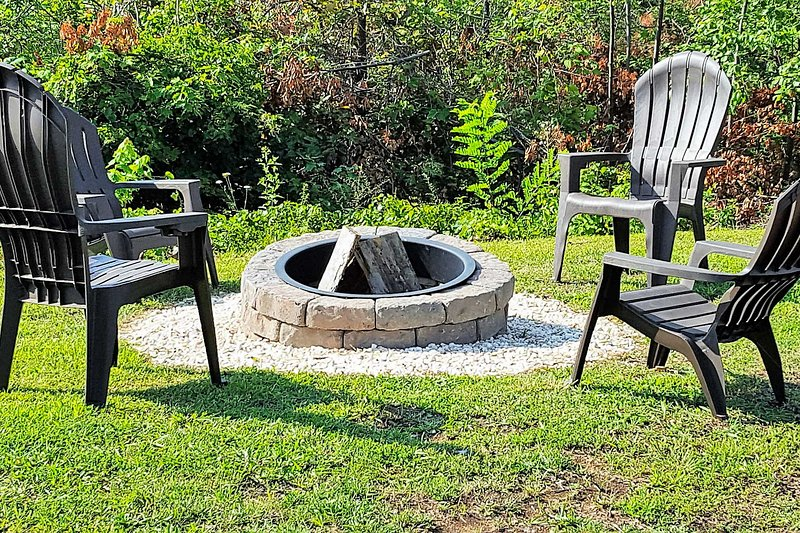 Private Wood-Burning Fire Pit | Adirondack Chairs
