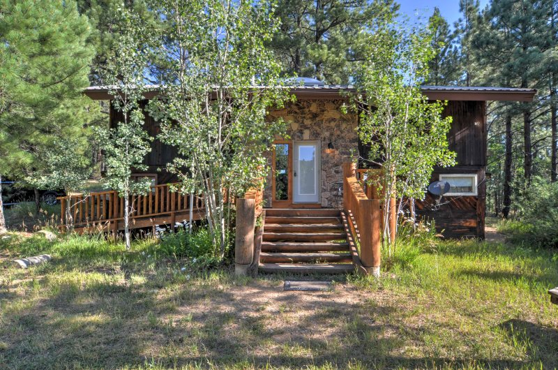 Have the ultimate mountain retreat by escaping to this tranquil Rociada vacation rental cabin!