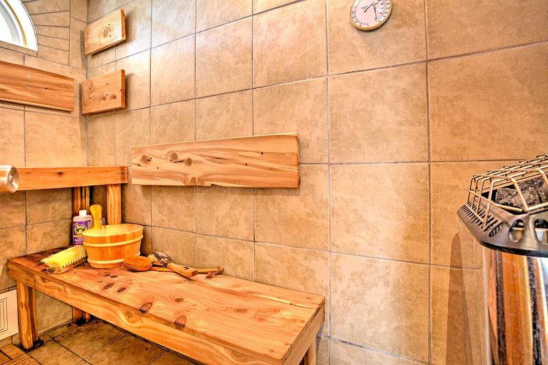 Déstresser dans le sauna!