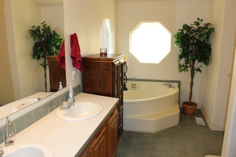 Dual Sinks in Master Bathroom.
