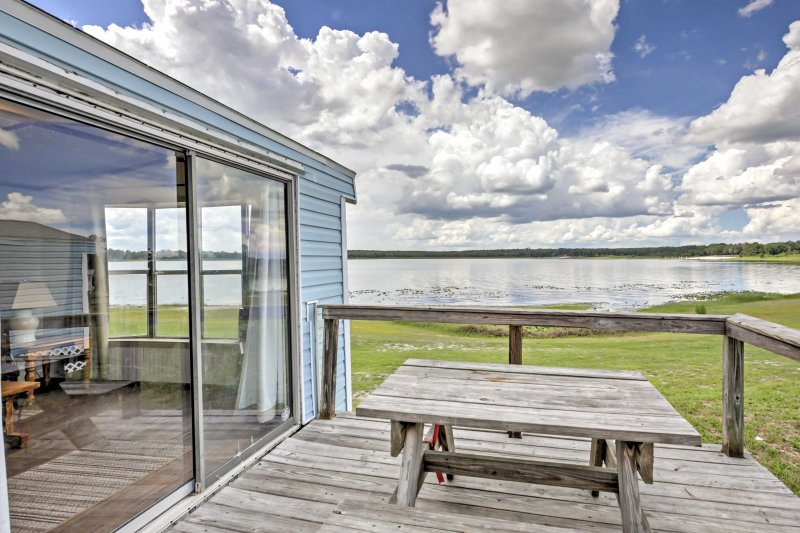 Relax and enjoy a lakefront getaway at this Silver Springs vacation rental cabin!