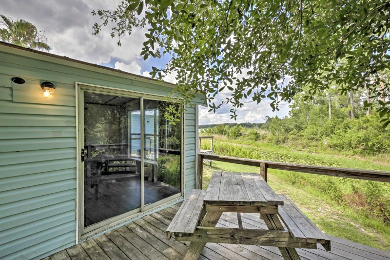 Your quintessential Florida retreat begins with this 1-bedroom, 1-bathroom Silver Springs vacation rental cabin.