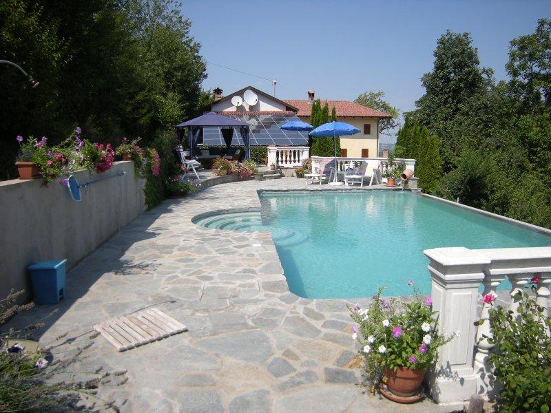 Luxury hayloft suite with infinity edge pool