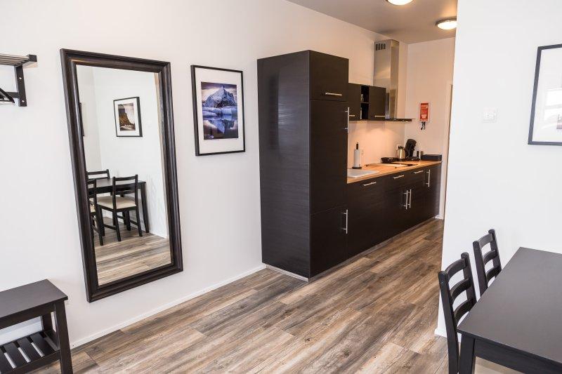New, modern 1BD apartment on the seaside - Bakki Hostel & Apts, holiday rental in Arborg