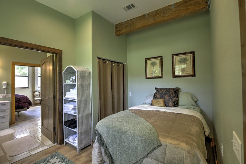 This bedroom offers a full bed.
