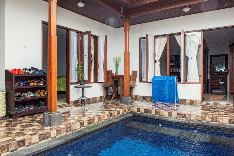 Pool and Bedroom
