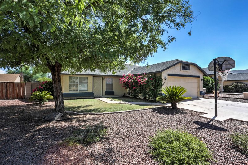 Escape the Arizona heat when you settle into this spacious 4-bedroom, 2-bath vacation rental home in Glendale.