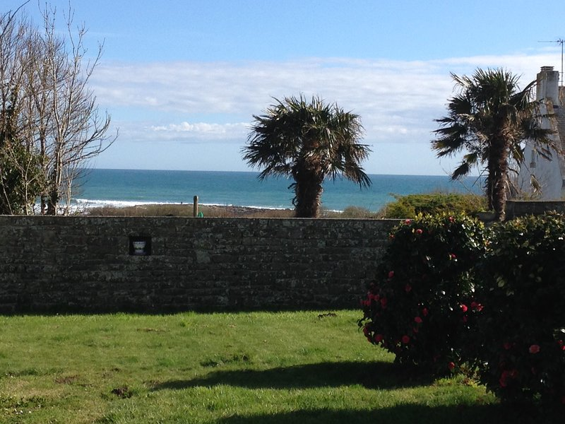 View towards the ocean from the entrance of the house