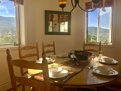 Dine with a view in this window, mountain view, and light filled dining space!