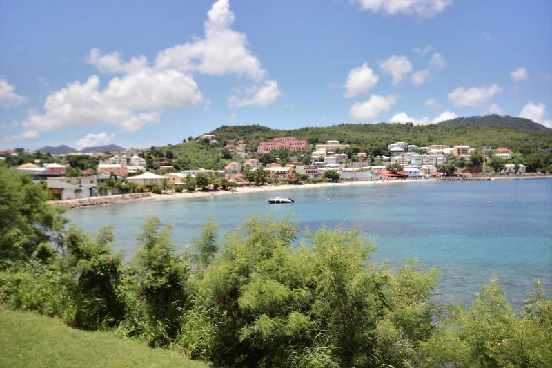 Breathtaking view Anse Mitan from the terrace