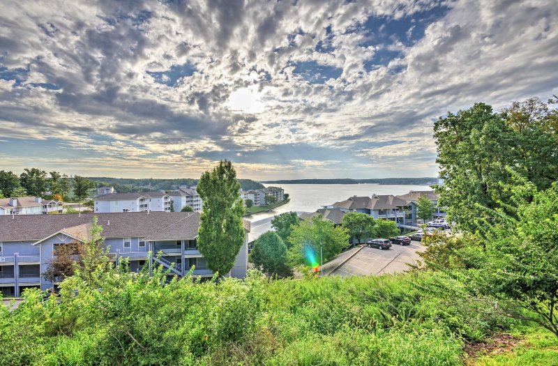 Enjoy scenic views from this vacation rental condo in Village of Four Seasons!