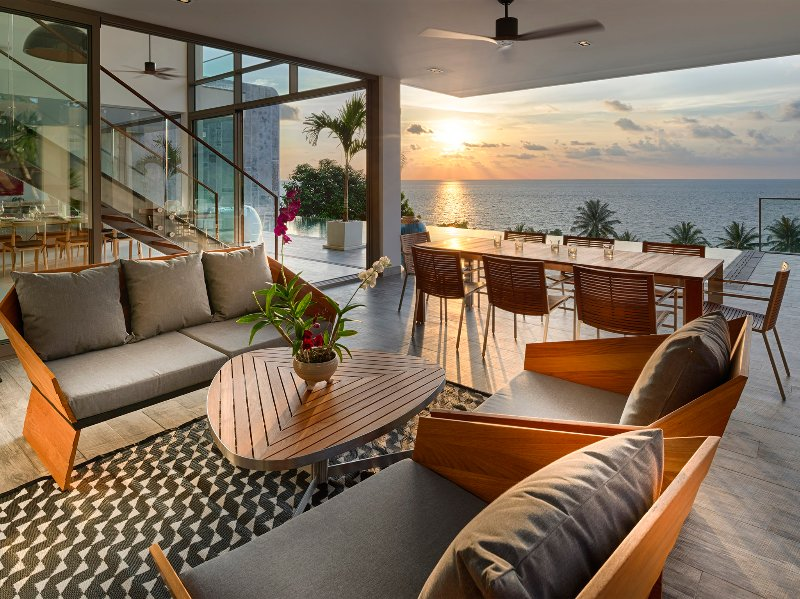 Malaiwana Duplex - Sunset view from outside living and dining area