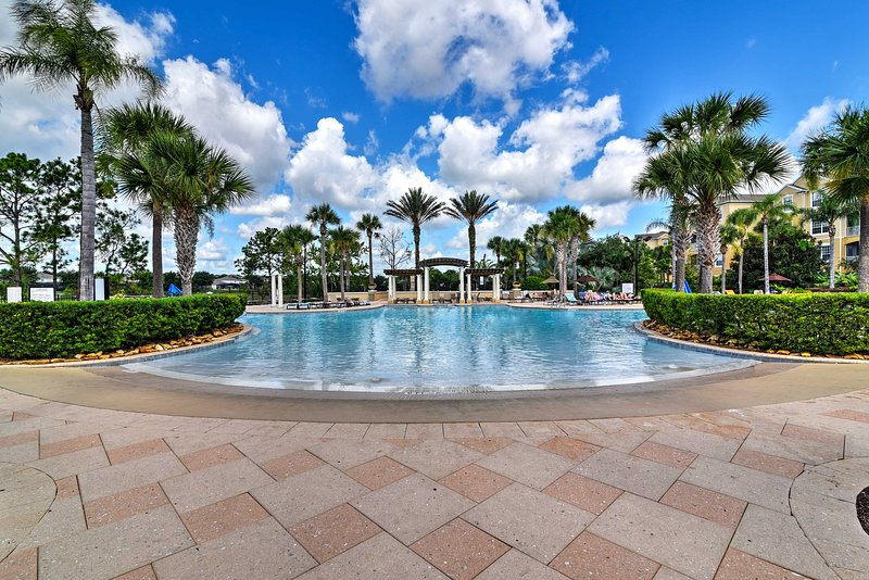 Embark on a magical vacation at this charming 3-bedroom, 3-bathroom Kissimmee vacation rental townhome located in the gorgeous Windsor Hills Resort!