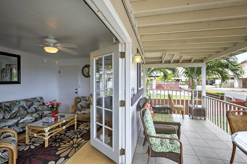 Enjoy island paradise with 'Ohana Hale Ma Kai', a 3 bed vacation rental home.