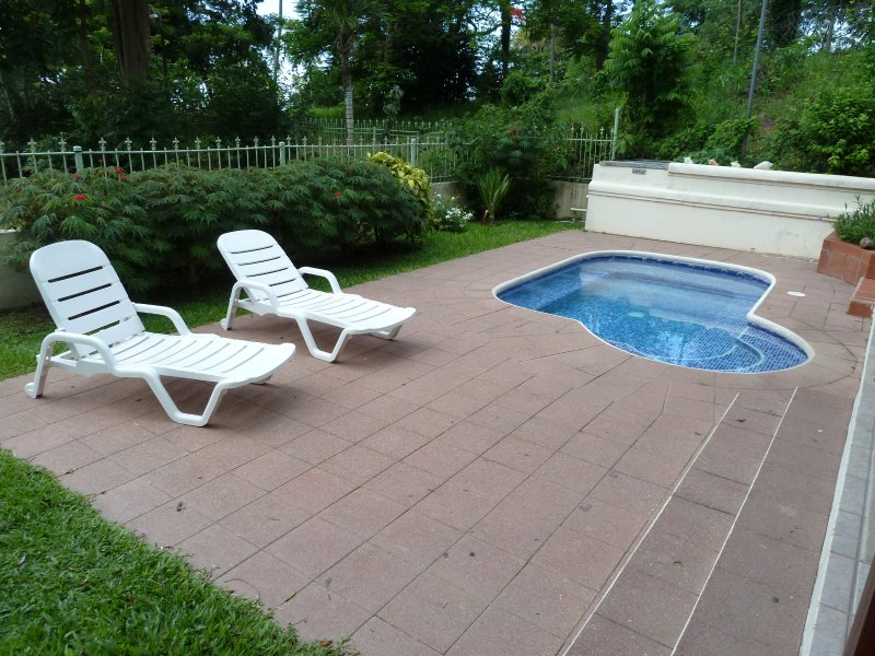 Private garden with jacuzzi/plunge pool