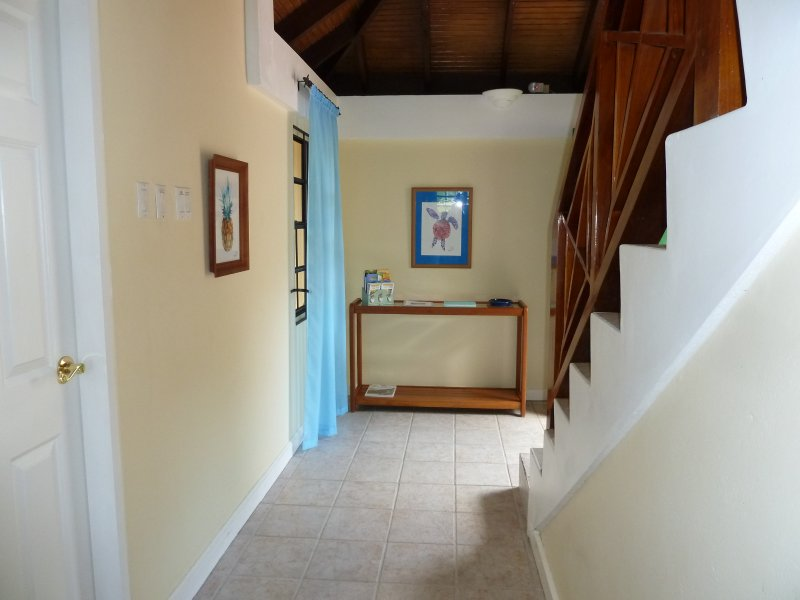 Entrance hall with stairs to bedrooms 2 & 3 and sun terrace
