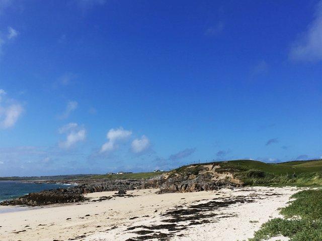Spiaggia accanto alla proprietà
