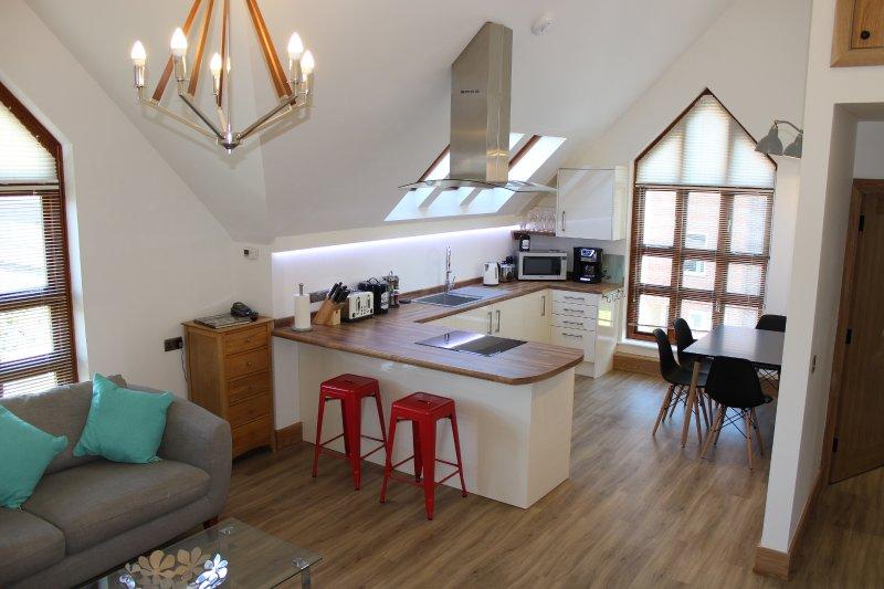 Open space soggiorno e la cucina