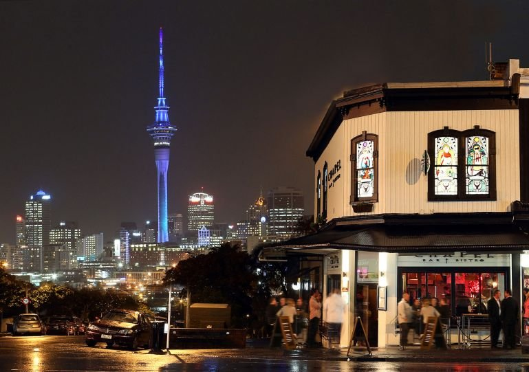Ponsonby Road restaurants and bars are just at the top of the street