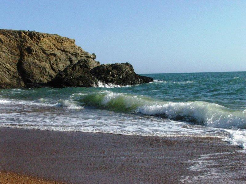 Wild beach of Sion on the ocean