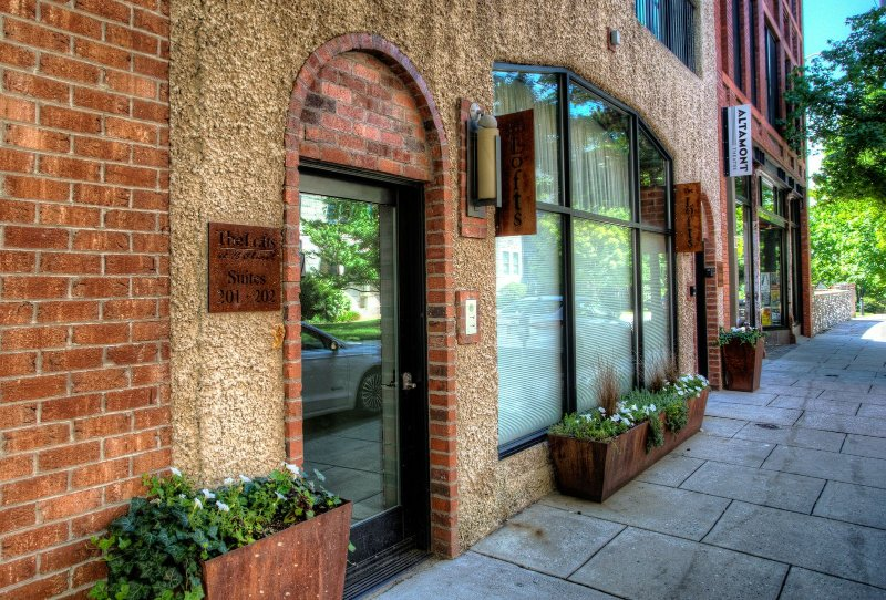 Entrance door on Church Street and within walking distance to many of Asheville's favorite shopping, dining and exploring.