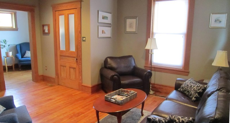 sala de estar y estudio