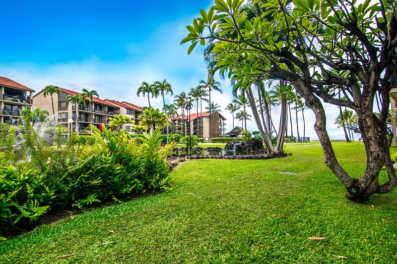 Ground floor condo with lush tropical and ocean views!