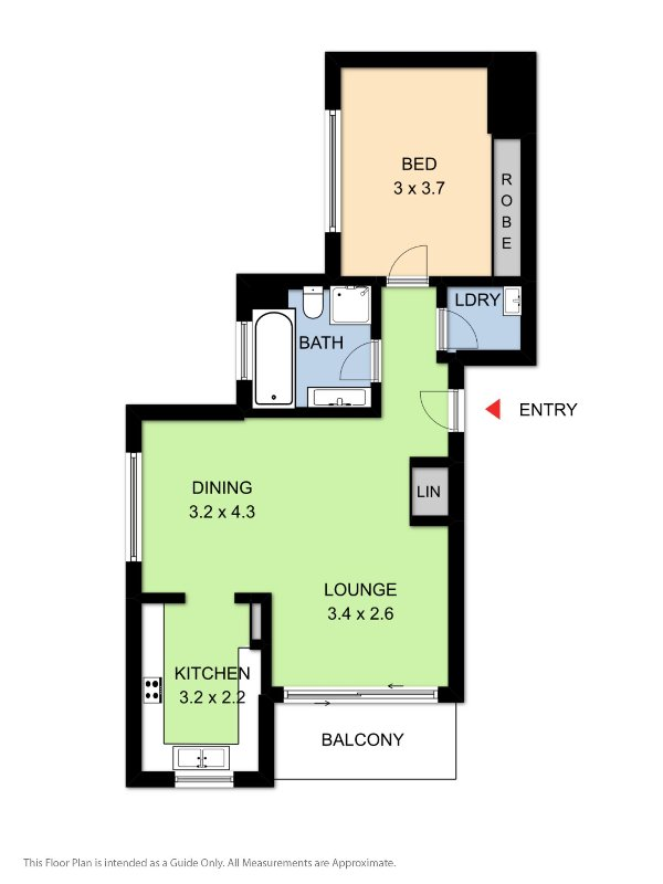1 bedroom apartment lay out