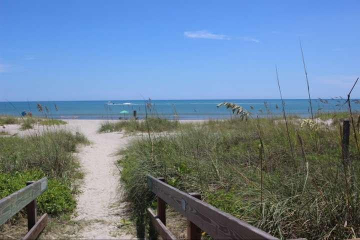 Gorgeous beach area that is walking distance from the bungalow!