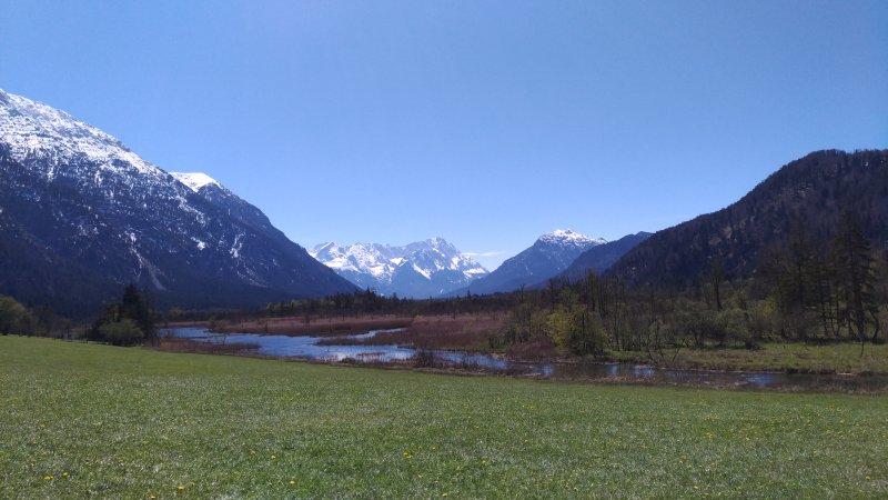 Seven Springs with Zugspitze views, Eschenlohe