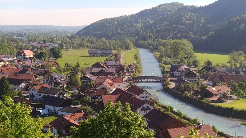 Eschenlohe from the peak St. Nikolaus